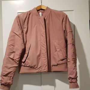 Lululemon dusty rose bomber jacket reversible